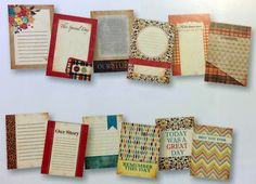 Autumn Harvest Journaling Cards!