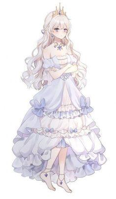 ideas fantasy art sketch anime girls for 2019 Anime Girl Dress, Manga Anime Girl, Cool Anime Girl, Pretty Anime Girl, Anime Girl Drawings, Beautiful Anime Girl, Anime Girls, Blonde Anime Girl, Anime Angel Girl