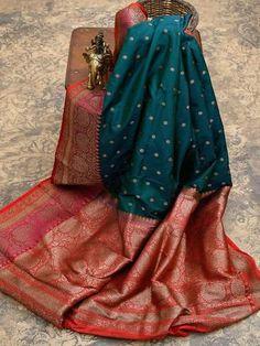 Brocade Blouse Designs, Wedding Saree Blouse Designs, Tussar Silk Saree, Dhoti Saree, Cotton Saree, Lehenga, Traditional Silk Saree, Wedding Saree Collection, Designer Party Wear Dresses