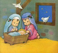 Pasitos de Colores: HISTORIA DE NAVIDAD Christmas Nativity, Christmas Time, Vintage Christmas, Merry Christmas, Salvador, Princess Zelda, Artist, Painting, Grande