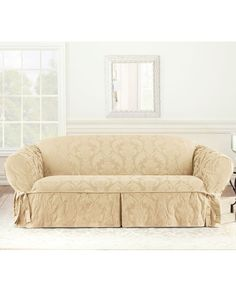 Pattern For Loose Sofa Cover What Is Microfiber Fabric 29 Best Covers Sofas Images Furniture Sure Fit Slipcovers Matelasse Damask 1 Piece The Home