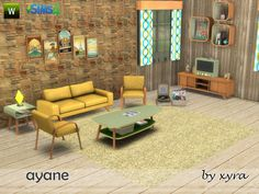 Sims 4 CC's - The Best: Ayane set living room by xyra33