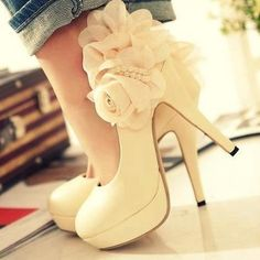 White Elegance in a heel