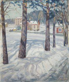 Jonas Heiska (1873-1937) - Winter in Jyväskylä