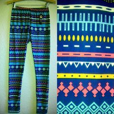 WOMEN'S LEGGINGS-NWT-TRIBAL AZTEC GEOMETRIC PRINT TIGHTS SUPER SOFT YOGA PANTS in Leggings | eBay