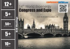 "#ConferenceSeries LLC Ltd is proud to announce the ""14th World #Bioenergy Congress and Expo"", to be held during June 06-07, 2019 at London UK. Theme of the Bioenergy conference is ""Green Revolution:Lets go green to get our globe clean"" with an objective to encourage young minds and their research abilities by providing an opportunity to meet the experts in the field of Bioenergy."