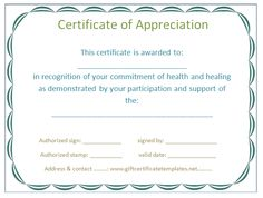 Gray border certificate of appreciation template