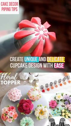 Cake Decorating Frosting, Cake Decorating Videos, Cake Decorating Techniques, Cake Icing, Cupcake Cakes, Cupcake Frosting Recipes, Gourmet Cupcakes, Kreative Desserts, Decoration Patisserie