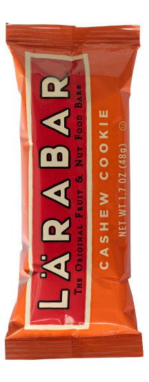 Larabar.. love these!! Probably the most legit bars out there. Only 2-3 ingredients.. how it should be! So natural and non processed :D