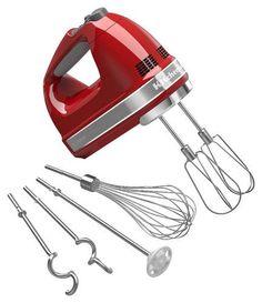 KitchenAid - 9-Speed Hand Mixer - Empire Red