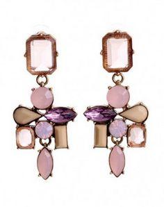 Symmetric Gem Earrings...  symmetric,gem,setting,alloy,earrings.  #teelieturner #earrings #chicnova