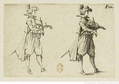 Les caprices : 11, Le joueur de violon. Deuxième planche ; Jacques Callot, 1621-1622. Eau-forte ; 5,8 x 8,2 cm