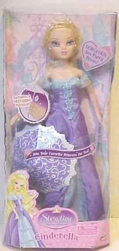 Disney Princess Storytime Collection - Cinderella w /tea Party Dress and Parasol
