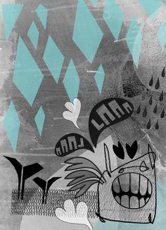 Laaa Laaa Print - Sharon Campbell Art Print / Illustration www.cargocollective.com/sharoncampbell My Works, Art Prints, Illustration, Design, Art Impressions, Fine Art Prints, Illustrations, Design Comics, Art Print