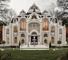 Classic House Exterior, Classic House Design, Dream House Exterior, Modern Minimalist House, Dream Mansion, Classic Building, Home Building Design, Bungalow House Design, Luxury Homes Dream Houses
