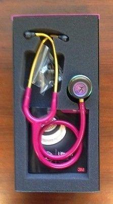 "3M Littmann Classic III 27"" Stethoscope RASPBERRY RAINBOW Chestpiece #5806 NEW"