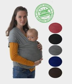 48ad983bb21  1 Style Child Carrier. This 4-in-1 Grey Baby Wrap and
