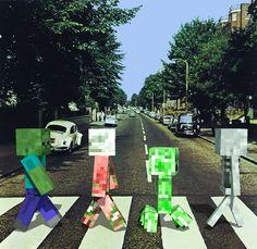 MINECRAFT in Abbey Road TShirts 3 years to XXXL by JMFPrinter, $15.00