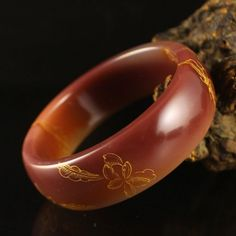 Inside Diameter 57 mm Chinese Natural Agate Bracelet