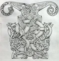 ✿ Tattoos ✿ Celtic ✿ Norse ✿ Viking and Oseberg influenced knotwork design by Tattoo-Design