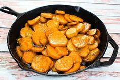 This is the way my mother served sweet potatoes on Thanksgiving and Christmas before she discovered the well known Sweet Potato Souffle recipe. As much as I love the souffle recipe, I still love these potatoes in this wonderful syrup. Hope you enjoy! Sweet Potato Souffle, Sweet Potato Casserole, Sweet Potato Recipes, Skillet Sweet Potatoes, Crack Potatoes, Potato Pie, Carrot Recipes, Potato Dishes, Potato Salad