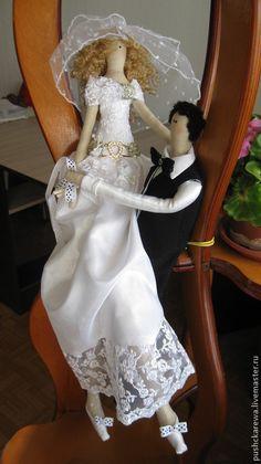 Куклы Тильды ручной работы. Ярмарка Мастеров - ручная работа. Купить Жених и невеста. Handmade. Черно-белый, жених и невеста