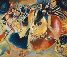 Wassily Kandinsky.  Improvisación de las formas frías, 1914