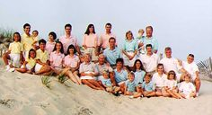 Extended Family Portrait Idea Have Each In A Different Color