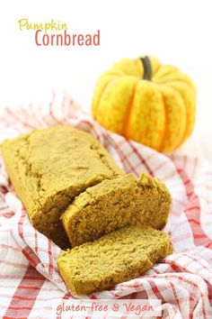 Pumpkin Cornbread that is gluten-free AND vegan! And the best thing to happen to your Fall baking!