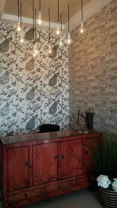 Grey Up The Wall Brick Wallpaper Textured Brick Wallpaper, Brick Design, Faux Brick, Backsplash, Trail, Homes, Ceiling Lights, Room, Inspiration