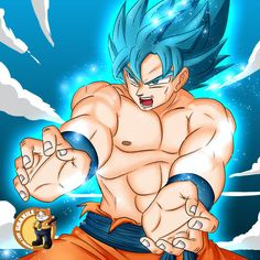 Son-Goku SSGSS by GraxileArtCafe (print image)
