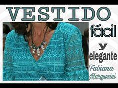 Cómo hacer VESTIDO FÁCIL Y ELEGANTE . Diy- Fabiana Marquesini - - YouTube Old Clothes, Diy Dress, Smocking, Make It Simple, How To Wear, How To Make, Sewing, Womens Fashion, Dresses