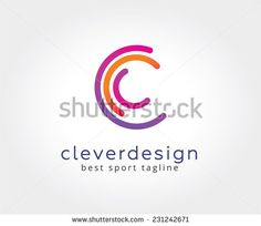 Vector C circle ring logo design template. Copyright symbol. Abstract circle logo. Round shape and infinity symbol. Company logo elements. Vector logo design. Technology web logo. Copyright symbol