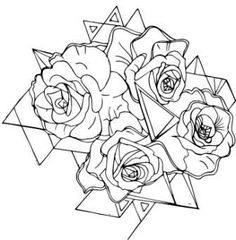 Triangles And Rose Tattoos Sample - Tattoes Idea 2015 / 2016
