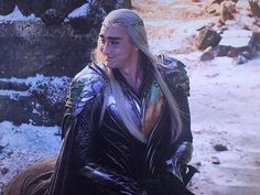 The Hobbit: The Battle of The Five Armies Behind The Scenes bts - Lee Pace as Thranduil