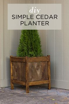 How to make these inexpensive and simple DIY Cedar Planter Boxes