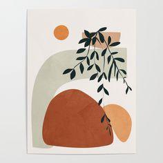 Soft Shapes I Framed Mini Art Print by City Art - White - x City Art, Framed Art Prints, Canvas Prints, Art Inspo, Watercolor Art, Modern Art, Art Drawings, Art Projects, Abstract Art