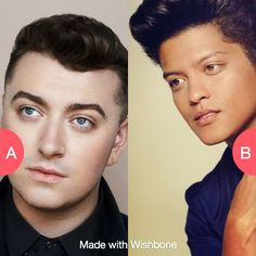 Sam smith or Bruno mars?  Click here to vote @ http://getwishboneapp.com/share/13589878