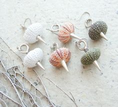Sea Urchin Spikey Earrings  Pick Your Color  Pink by StaroftheEast, $40.00
