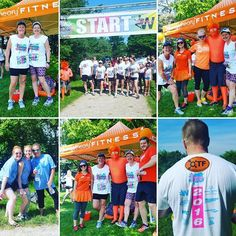 Team #OTFWaterloo had a great time at our first outdoor group run! #InRunningColour2016 was a BLAST! Even the #Orangeman got in on the colour action!