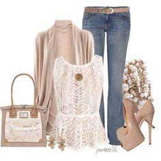 Neutral look, love the heels!!