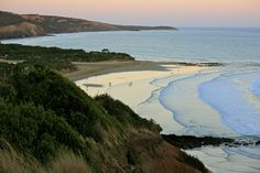 sunset at Jan Juc beach, Australia