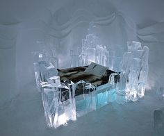 Ice bed anyone? Reindeer hides keep guests warm as they sleep on an ice bed at the Ice Hotel in Jukkasjarvi, Sweden. Scandinavian Cruises, Kingdom Of Sweden, Paradise Places, Wooden Wall Panels, Ice Hotel, Sweden Travel, Sicily Italy, Lappland, Interior Exterior