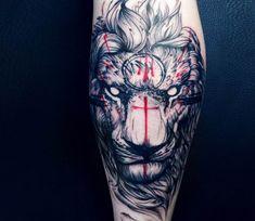 Lion tattoo by Vlad Tokmenin