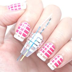 Pink & White Checks Nail Art Tutorial (Chanel Spring Summer 2013 RTW Inspired)