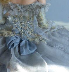 blue bow dress