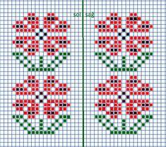 Knitted Mittens Pattern, Fair Isle Knitting Patterns, Loom Patterns, Crochet Patterns, Small Cross Stitch, Cross Stitch Designs, Cross Stitch Patterns, Patchwork Quilt Patterns, Chart Design