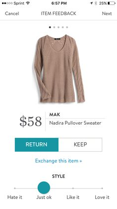 Apparently,  my body isn't a fan of sweaters, but this was comfy. _ returned.   Mak Nadira Pullover Sweater.