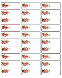 d'adorables étiquettes ornées de roses… Adorable address labels with roses adorable labels adorned with roses … Adorable address labels with roses Free Address Labels, Address Label Template, Mailing Labels, Labels Free, Mailing Address, Christmas Labels Template, Christmas Return Address Labels, Printable Lables, Free Printable