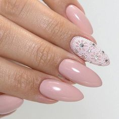 Fabulous Laced Almond Nails #nudenails #lacenails #pinknails #almondnails ❤️ Long nail designs are what glamorous girls look for. But it may seem difficult at time to come up with a suitable idea. That is why we suggest you use our trendy ideas to come up with a flawless look. ❤️ See more: https://naildesignsjournal.com/best-long-nail-designs/ #naildesignsjournal #nails #nailart #naildesigns #longnails